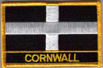 Cornwall Embroidered Flag Patch, style 09.